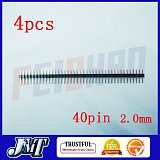 4PCs 2.0mm 40pin Straight Male Pin Header Strip , circuit board ,PCB , LED ,Computer ,Electricity meter