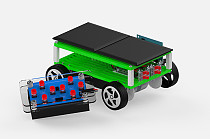 TYMX DIY 8 Channel Hybrids Car plastic puzzle Toy Technology Manual for Children Kids Educational toys