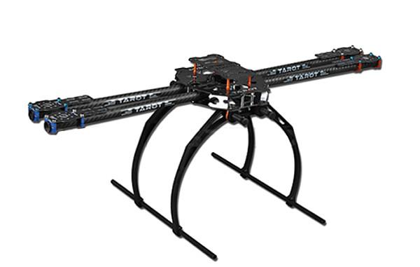 Tarot 650 4-Axis Folding 3K Carbon Fiber Aluminum Tubes Frame Kit TL65B02 For Quadcopter Aircraft