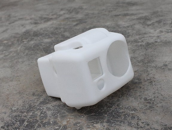 Protective Dustproof Silicone Case Cover Skin White for Gopro HD Hero 2 with LCD