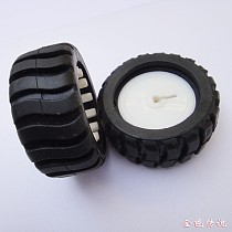 JMT 43*19*3mm Balck D-Type Hole Rubber Wheel Model Wheel DIY Toy Accessories for Trancking Car Robot