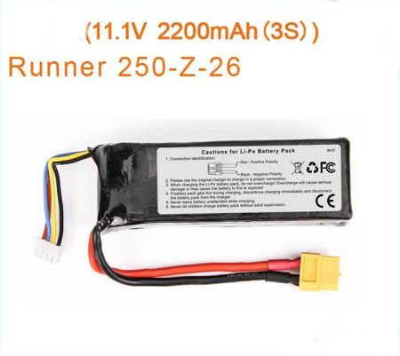 Original Walkera Runner 250 Battery 11.1V 2200mAh Li-po battery Walkera Runner 250 Spare Parts Runner 250-Z-26
