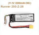 Original Walkera Runner 250 Battery 11.1V 2200mAh Li-po battery Walkera Runner 250 Spare Parts Runner 250-Z-26