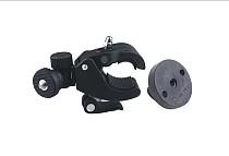 Fast Clip Release Motor Bike Roll Bar Handbar Tripod Mount + Blue Round Tripod Adapter