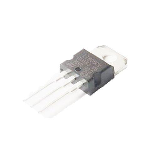 Generic L7805 7805 Voltage Regulator IC 5V 1.5A TO-220 Make In China Pack of 10 Pcs Color Black