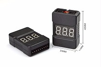 50PCS/Lot BX100 1-8S Lipo Battery Voltage Tester/ Low Voltage Buzzer Alarm/ Battery Voltage Checker with Dual Speakers