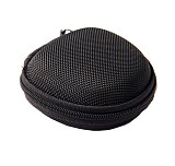 F15101 Round Portable Mini Earphone Carrying Hard Case Bag / Data Cable Pouch for Earphone Headphone SD TF Cards Cable C
