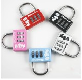 S11571 1pc Mini Cute 3 Digit Combination Padlock Luggage Suitcase Bags Travel Security Lock