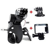 F06642-B Fast Clip Release Bike Handbar Mount Dia 17-35MM Bar + Tripod Mount + Standard Border Frame Mount for GoPro HER
