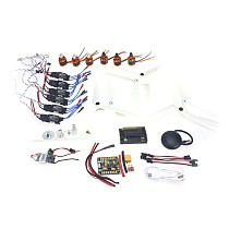 6-axis DIY GPS Drone Electronic:920KV Brushless Motor 30A ESC BEC Self-locking Propeller GPS APM2.8 Flight Control