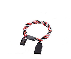 F06463 300MM 60 pin Servo Extension Cord High Current Cable Twisted Wire with Magnetic fit for Futaba/JR