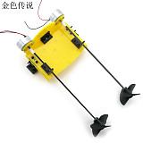 DIY Handmade Accessories Boat Ship Kit Electric Two Motor Propeller Power Driven for Remote Control Boat Model Robot