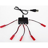 1 to 5 Balance Charger with 5 PCS JST Cable for V977 V930 U818 CG022 CG023 X5C H5C Helicopter Battery