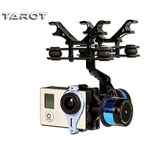 F09990 Tarot T-2D Brushless Gimbal Camera PTZ Mount FPV Rack TL68A08 for GoPro Hero 3 RC Multicopter Drone Aerial Photog
