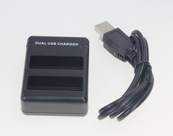 2 Slots AHDBT-401 Dual Battery Charger USB Charging Dock for GoPro HD Hero4 Camera AHDBT 401