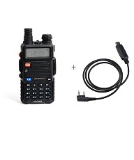BaoFeng UV5R Dual-Band Two-Way Radio with USB Programming Cable
