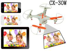 CX-30w 4CH Wifi Real Time Video RC Quadcopter 6 Axis Gyro Camera 360 Rotating RTF Drone Cheerson