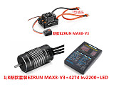 Hobbywing EzRun Max8 v3 T / TRX Plug Waterproof Brushless ESC + 4274 2200KV Motor +LED Programing for 1/8 RC Car Truck