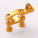 OEM CNC Aluminum Motor Bike 32mm Handlebar Camera Fast Mount Holder Golden for Gopro Hero 2/3/3+