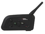 Vnetphone V4C 1200m Full-duplex intercom Handfree Stereo Headset Bluetooth Interphone with FM for Referee 4 Users