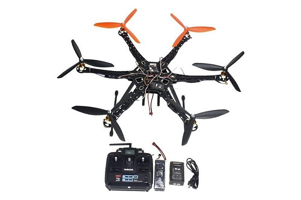 F08618-F Drone Upgraded Full Kit HMF S550 9045 3-Blade 6Axis Multi QuadCopter UFO RTF / ARF with 6ch TX / RX