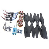 4-Axis Foldable Rack RC Quadcopter Kit +750KV Motor+15x5.5 Propeller+30A ESC+ KK Connection Board