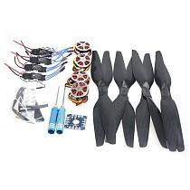 4-Axis Foldable Rack RC Quadcopter Kit +750KV Motor+15x5.5 Propeller+30A ESC+ KK Connection Board