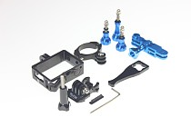 OEM Bike Handlebar Mount Holder 31.8mm Pivot Arm Mount Universal Protective Sheel Thumb Knob Screw Fixed Wrench for