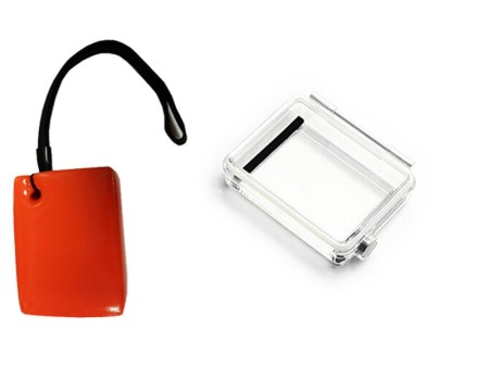 Waterproof Floaty Box Adhesive W/ Hole Strap + Extend Backdoor Case Cover for GoPro Hero 3 Plus Camera