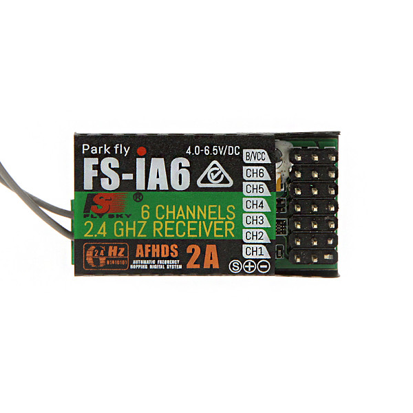 1pcs Original 2.4G Flysky FS-iA6 6 Channel Remote Control Receiver With Double Antenna Compatible Flysky i4 i6 i10 Trans