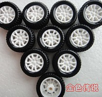 JMT 10Pcs 20*8*1.9mm Rubber Hollow Tire Car Wheel Model Wheels DIY Toy Accessories for Car