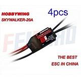 4pcs/lot SKYWALKER 20A Build-in BEC Brushless ESC For 4 / 6 Axis UFO KK Quadcopter , Trex 250 RC Heli