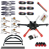 F550 Drone FlameWheel Kit With KK 2.3 HY ESC Motor Carbon Fiber Propellers +Tall Landing Skid PTZ