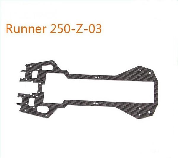 Original Walkera Runner 250 Spare parts Bottom main board Runner 250-Z-03 Carbon Fiber Board