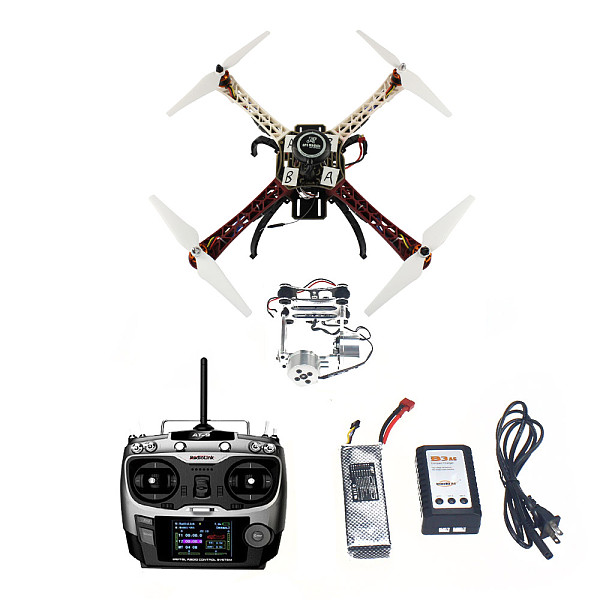Assembled HJ 450 450F 4 Axis RFT Full Kit with APM 2.8 Flight Controller GPS Compass & Gimbal