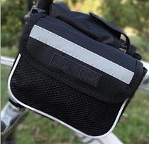 Bicycle Double Saddle Bag Riding Equipment Bike Accessories Black for Outdoor Sports