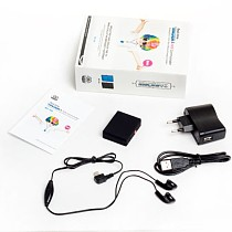 Q00368 Black RF-V6 Mini GPS Tracker Real-Time GPS Tracking SOS Communicator with Remote Control GSM/GPRS/AGPS Alarm