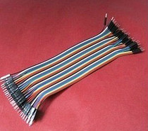 F08048 15CM Male to Male Wire 40P Connector 2.54mm Dupont Color Jumper Adapter Cable