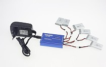 6 Port Balancing Charge BC-1S06 + Power Adapter 0.5A Charger for Li-po Battery