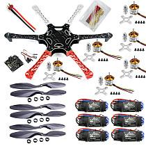 F550 Drone FlameWheel Kit With KK 2.3 HY ESC Motor Carbon Fiber Propellers +EMS