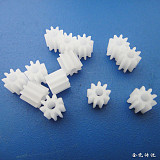 JMT 1piece 1009A 9-Tooth 1.9-Hole M0.5 Motor Gears Robot Model Accessories Four-Wheel Drive Plastic Gears