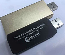 WBTUO LM-741U USB3.0 TYPE-A TO NGFF SSD Enclosure Without Cable for 2230 or 2242 MGFF(M.2) SSD