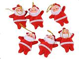 S01069 Christmas Party Decoration Cute Santa Claus Ornament Hanging For Christmas Tree Indoor or Outdoor Toys