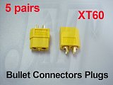 200 Pairs XT60 Bullet Connectors Connector Plug Male & Female For RC ESC lipo battery