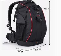 EIRMA Professional Traveling Outdoor Backpack / Waterproof DSLR Camera Bag L Size 340*250*520mm All Black