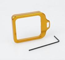CNC Aluminum Lanyard Ring Lens Mount Set Golden for Gopro Hero3+ Hero 3 Plus