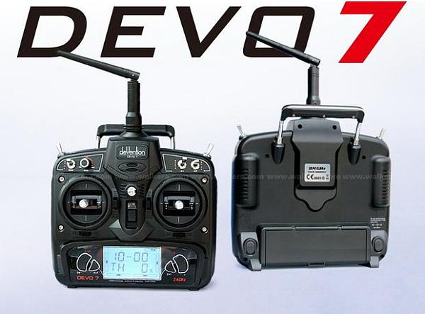 Walkera Devo 7 Transmiter 7 Channel DSSS 2.4G Transmiter  Without Receiver  for Walkera Helis Helicopter