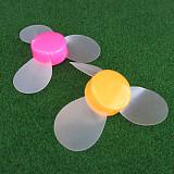 2 Stks 72mm Soft Blade Propeller Model Materiaal DIY Creatieve Productie van kinderen Educatief Speelgoed Willekeurige K