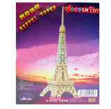 F09644 Wooden 3D Puzzle Small Eiffel Tower DIY Hand-assembled Educational Toys for Children
