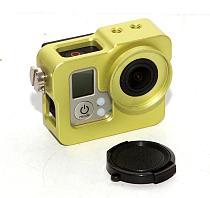New Green Aluminium Protective Housing Case Border Shell W/ Lens Cap for GoPro Hero3 Camera
